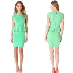 Alice and Olivia Mint Blue Victoria Peplum Dress